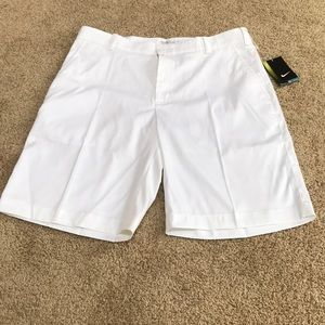 New! Nike Golf men's performance white shorts